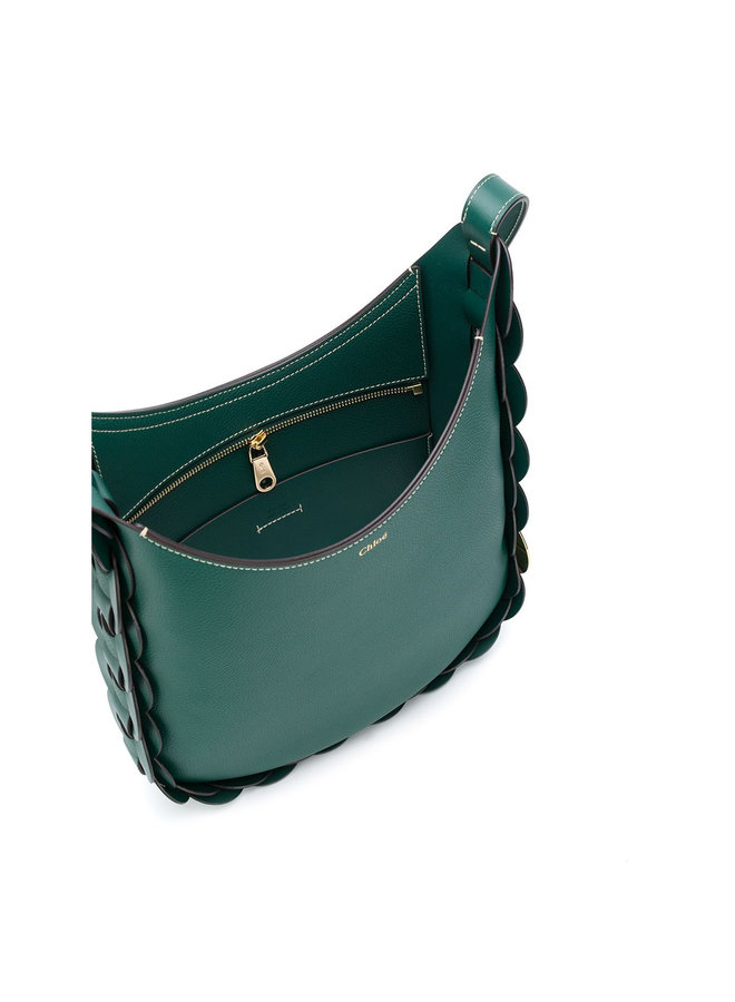Darryl Shoulder Bag in Leather in Green