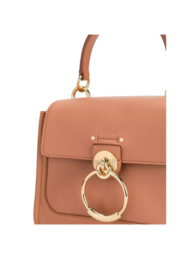 Small Tess Day Crossbody Bag in Leather in Pink Nude