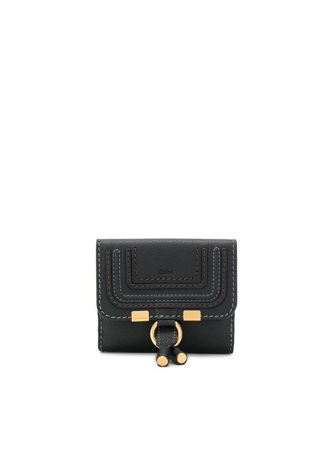 Small Marcie Flap Wallet in Leather