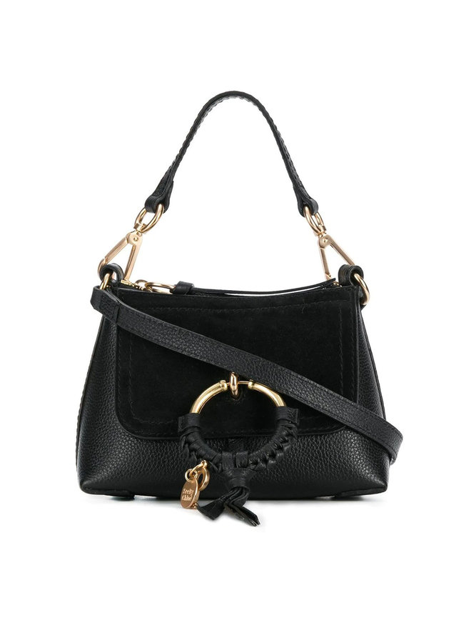 Joan Mini Crossbody Bag in Leather in Black