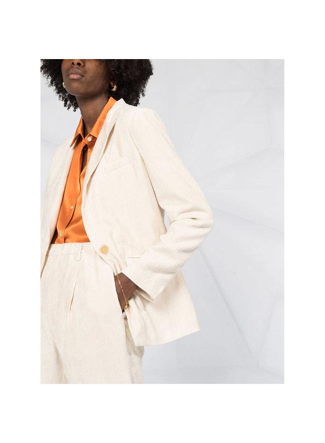 Fitted Blazer Jacket in Corduroy in Butter