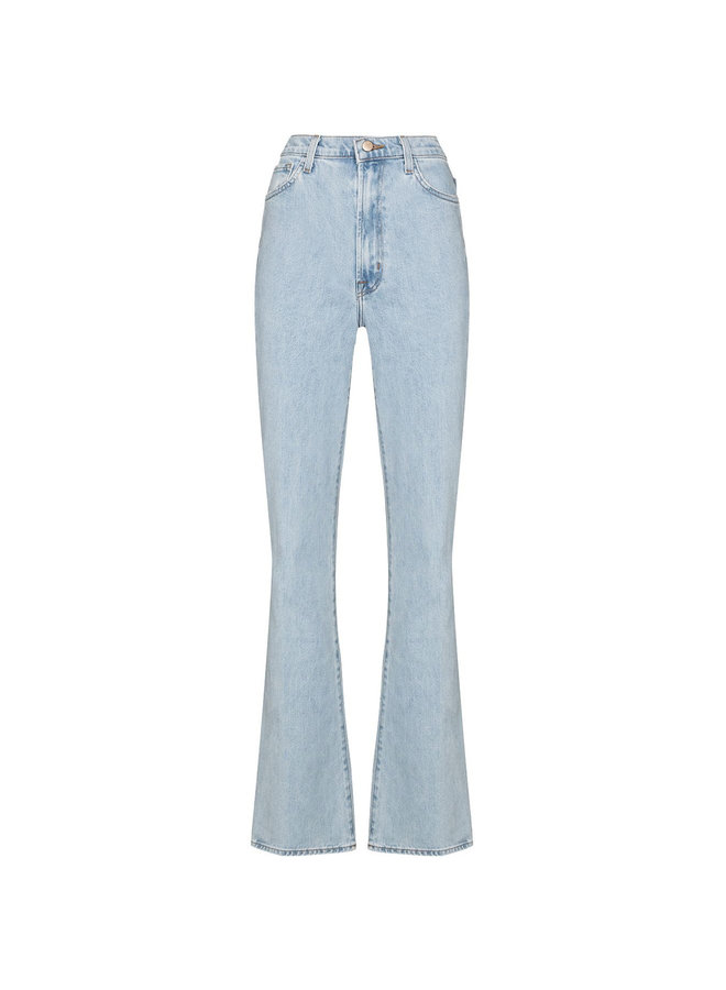 Runway High Rise Flared Jeans  in Light Blue