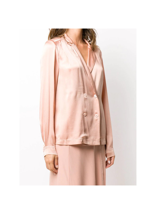 Double Breasted Jacket/Blouse in  Blush