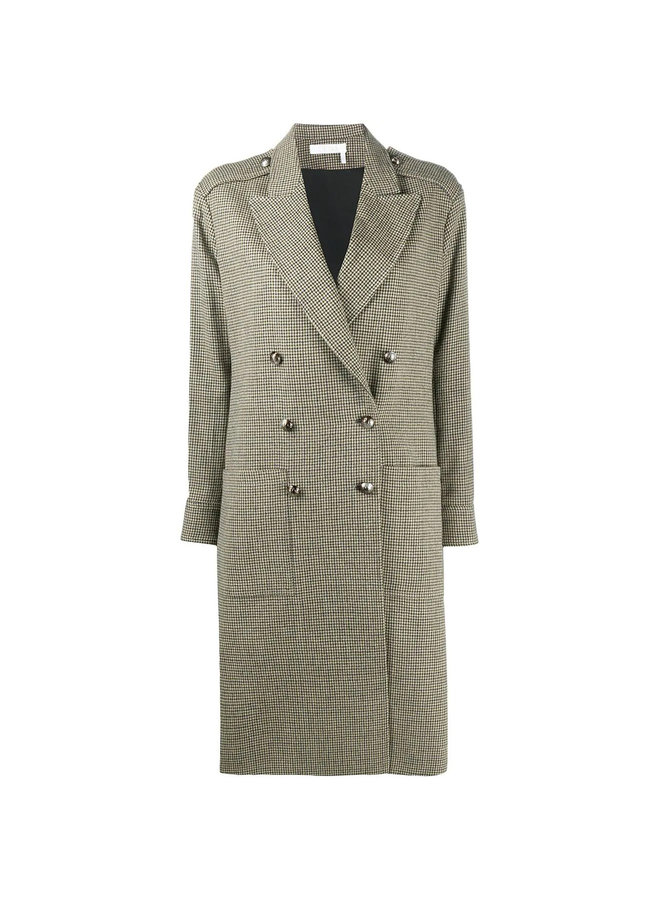 Double-breasted Coat in Cotton Blend