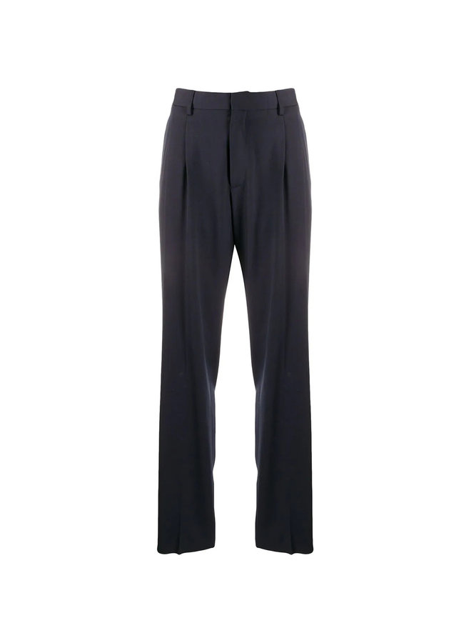 Tailored Cut High Waist Trousers in Wool
