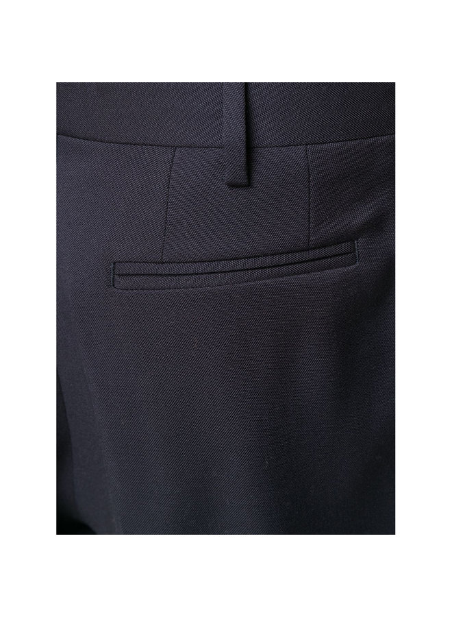 Tailored Cut High Waist Trousers in Wool In Ink Blue
