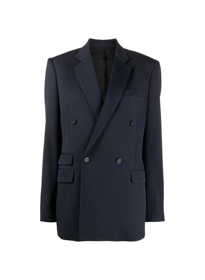 Double-breasted Blazer Jacket in Wool