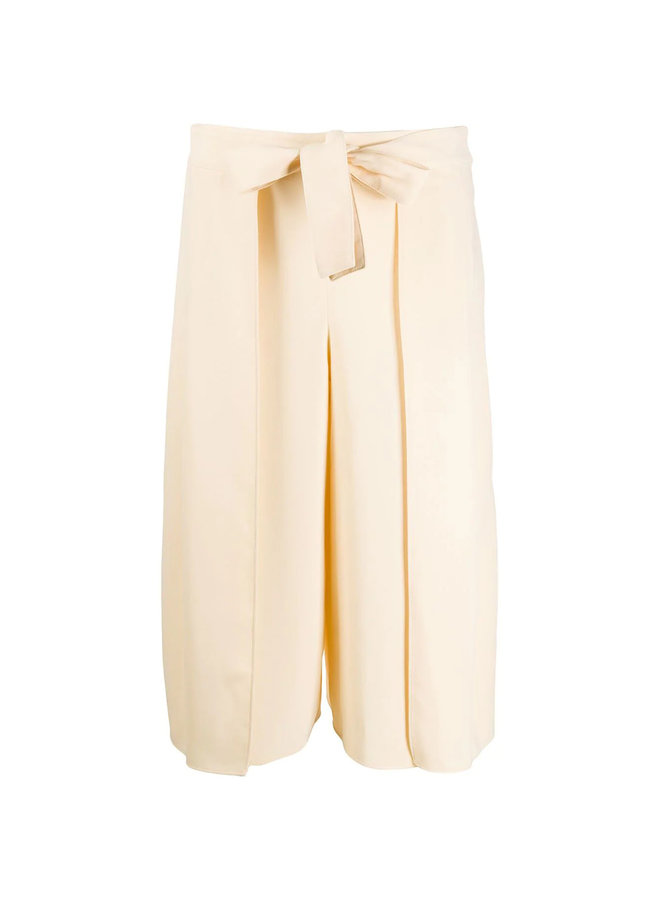 Wide Leg Cropped Tailored Trousers