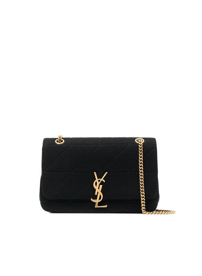Jamie Chain Shoulder Bag in Wool in Black