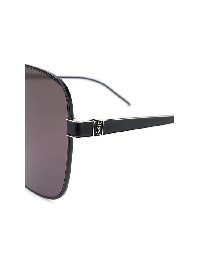 Square Tinted Lens Sunglasses in Black