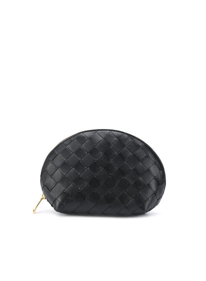Intrecciato Weave Leather  Beauty Case