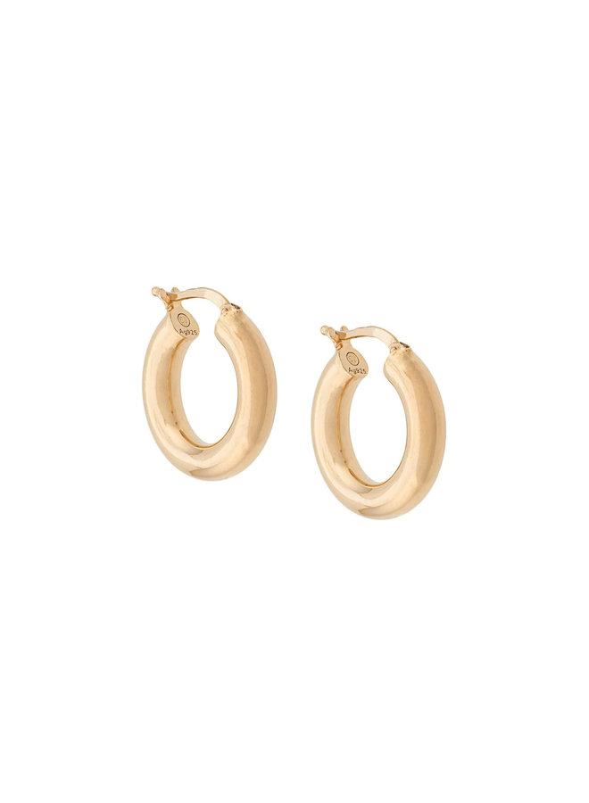 Hoop Earrings in Gold Plated  Sterling Silver