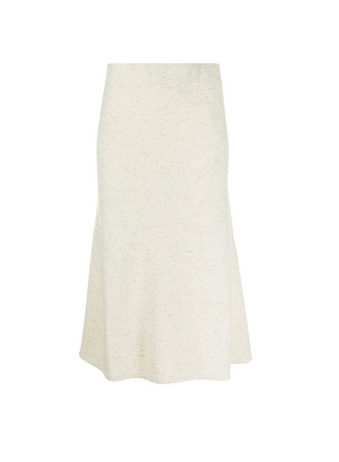 Stretch Cashmere Midi Skirt