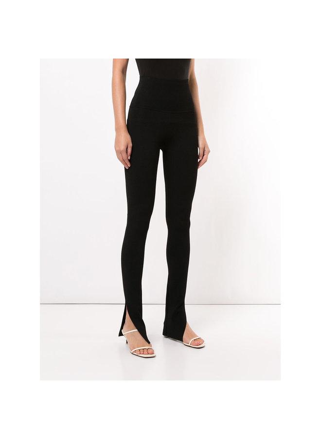 High Waist Floor Length Pants in Black