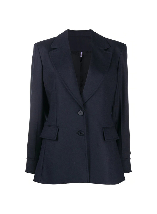 Tailored Blazer Jacket in Stretch Virgin Wool