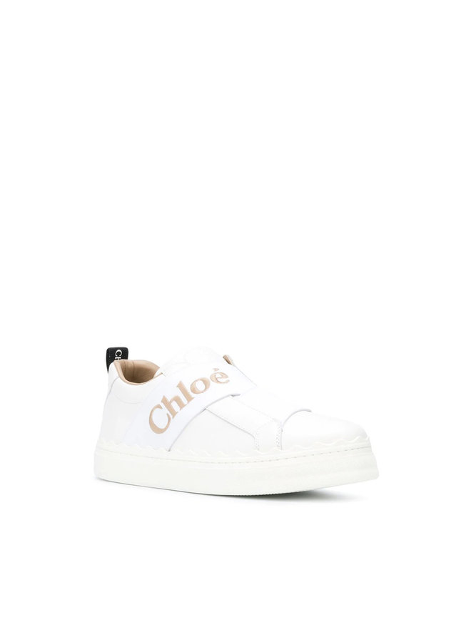 Low-top Sneakers in Leather in White