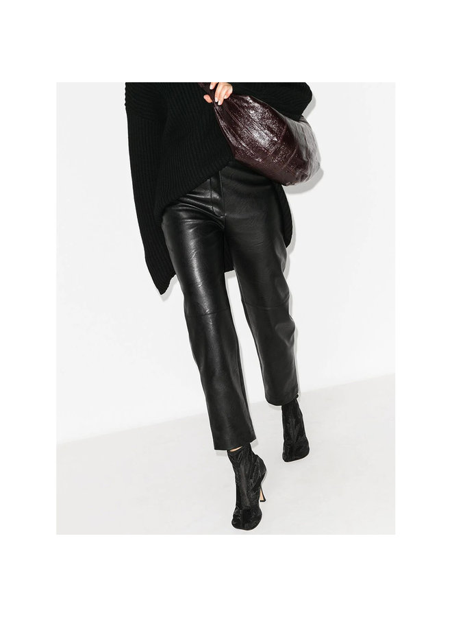High Waist Alter Leather Pants in Black