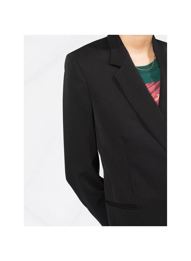 Double-breasted Blazer in Wool in Black