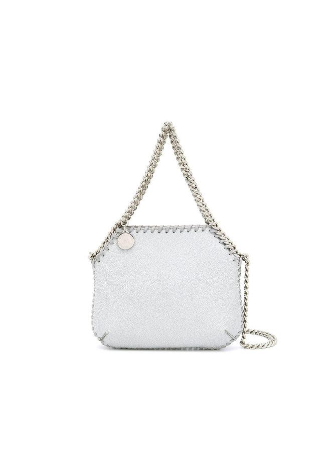 3 Chain Mini Falabella Shoulder Bag in Silver