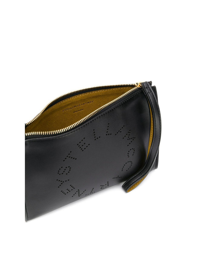 Stella Logo Clutch Bag in Black