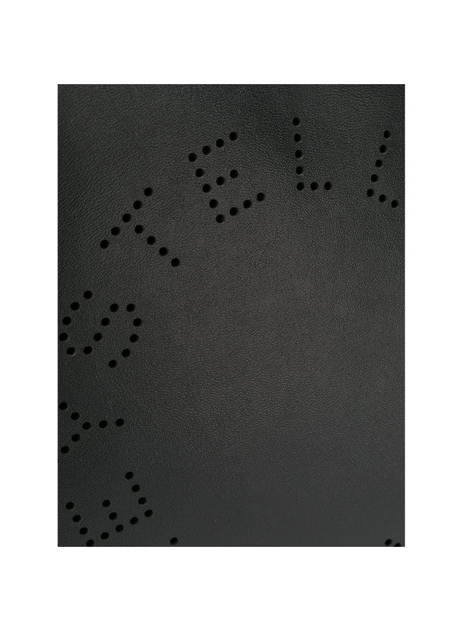 Stella Logo Clutch Bag in Black