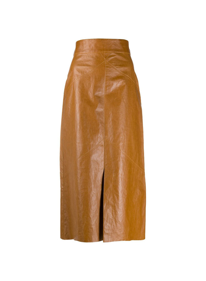 Midi Skirt in Faux Leather