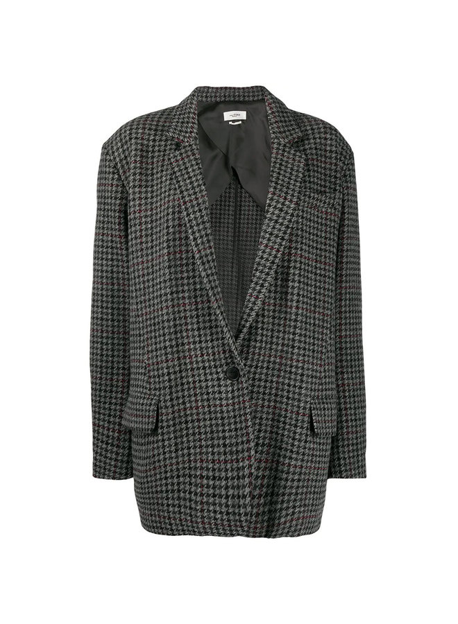 Oversized Checked Blazer Jacket