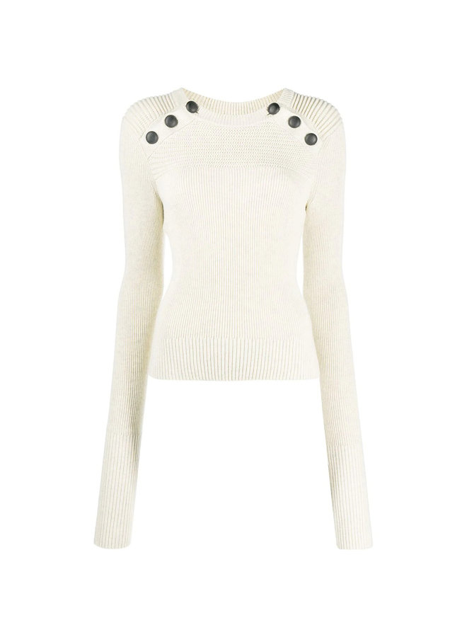Ribbed Knitwear Buttons Top