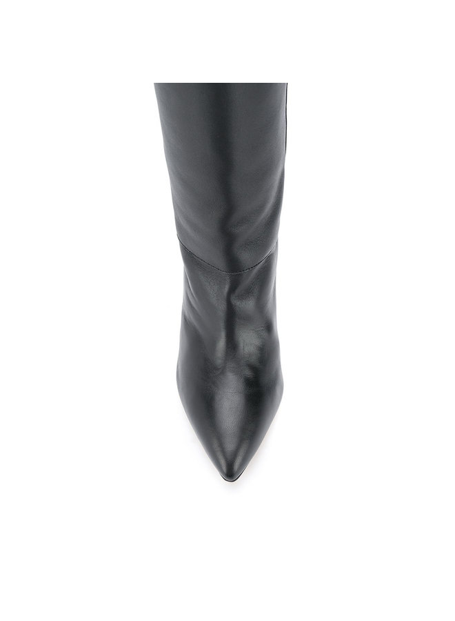Knee High Boots in Leather in Black