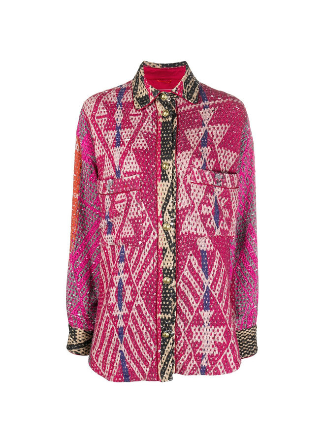 Carpet Print Shirt Jacket