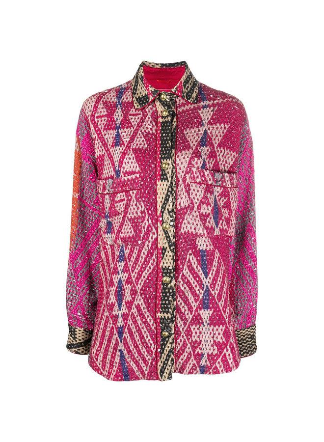 Carpet Print Shirt Jacket