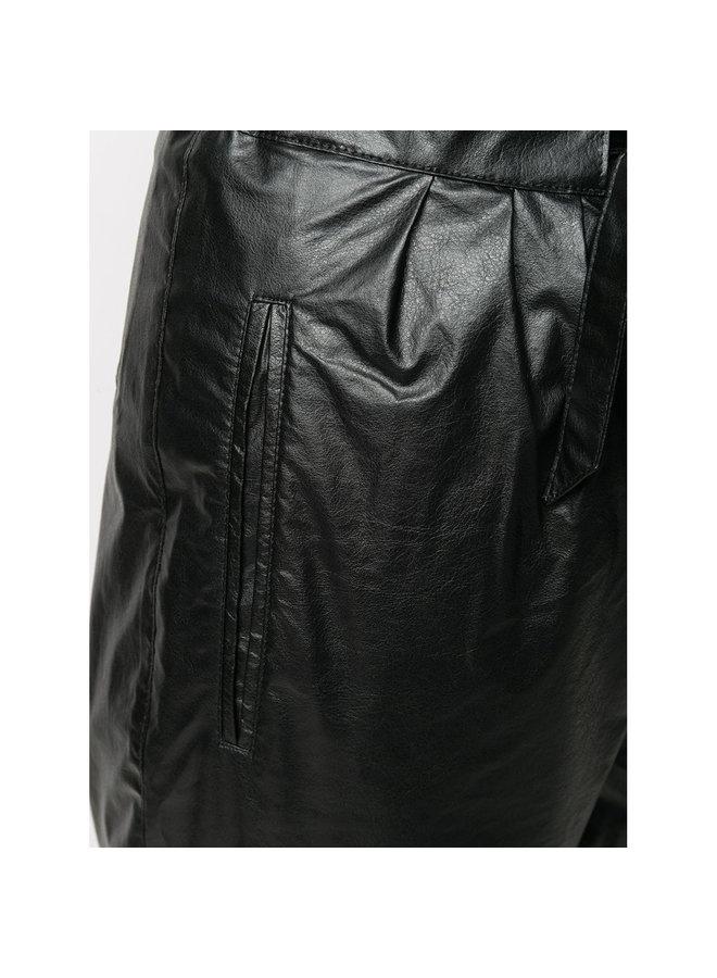 High Tie Waist Pants in Black