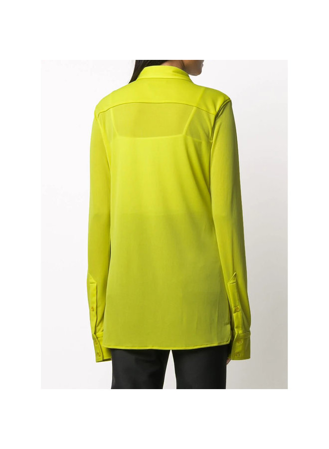 Long Sleeve Fitted Shirt in Kiwi