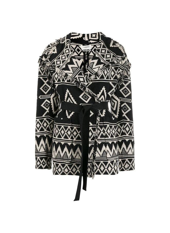 Short Coat in Ethnic Pattern