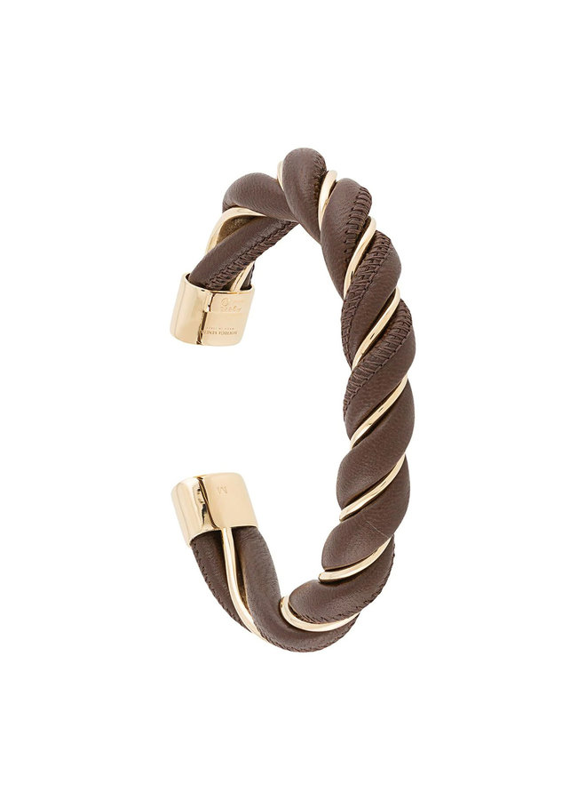Twisted Bracelet in Leather in Brown