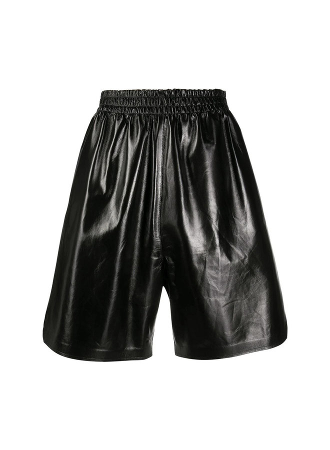 Knee Length Leather Shorts
