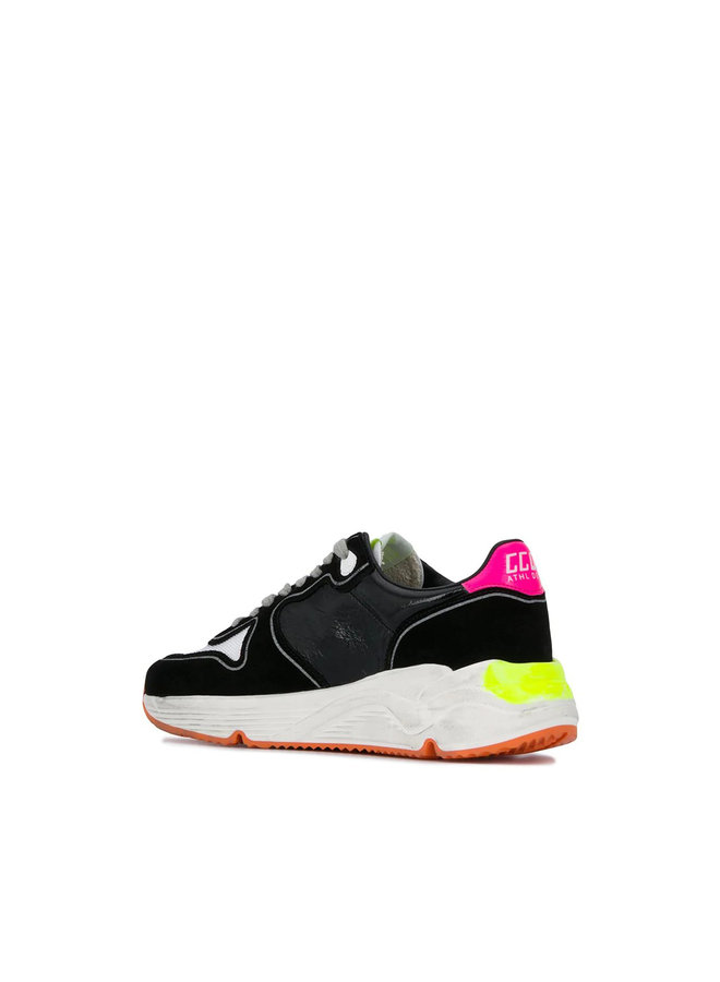 Running Sole Sneakers in Leather in Black