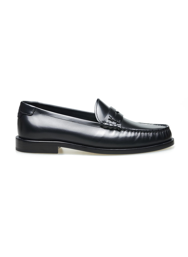 Monogram Loafers in Leather in Black