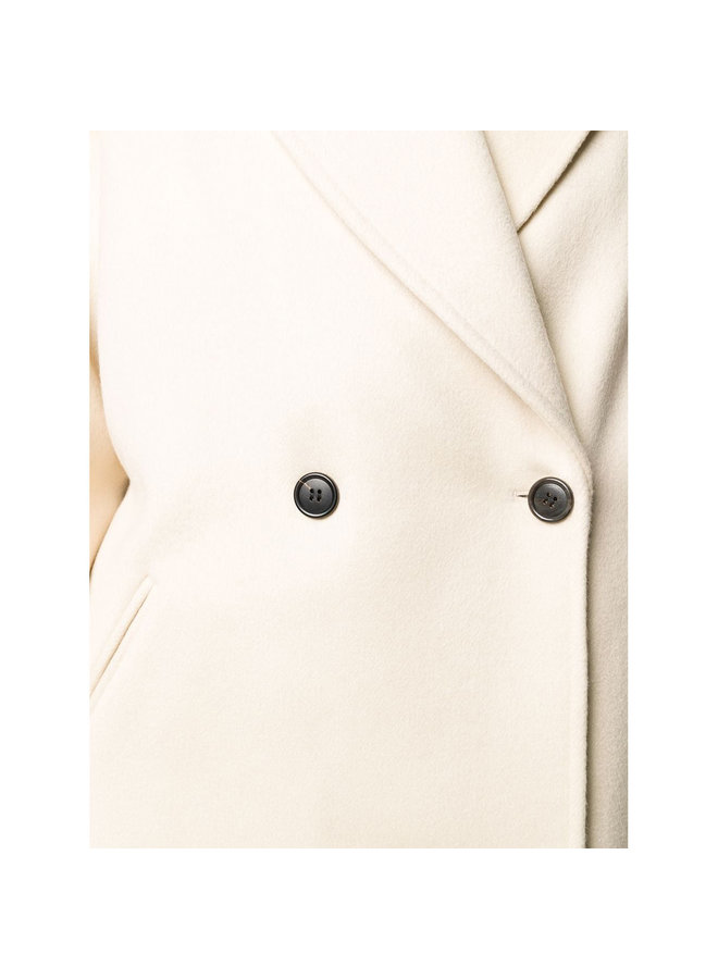 Long Oversize Coat in Wool/Cashmere in Beige
