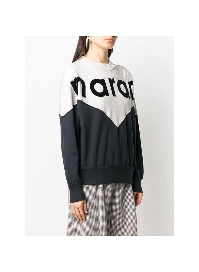 Marant Logo Sweatshirt in Cotton in Black