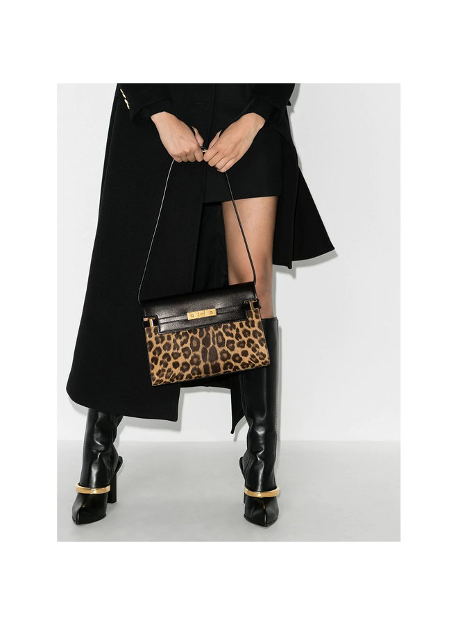 Manhattan Shoulder Bag in Leather in Animalier