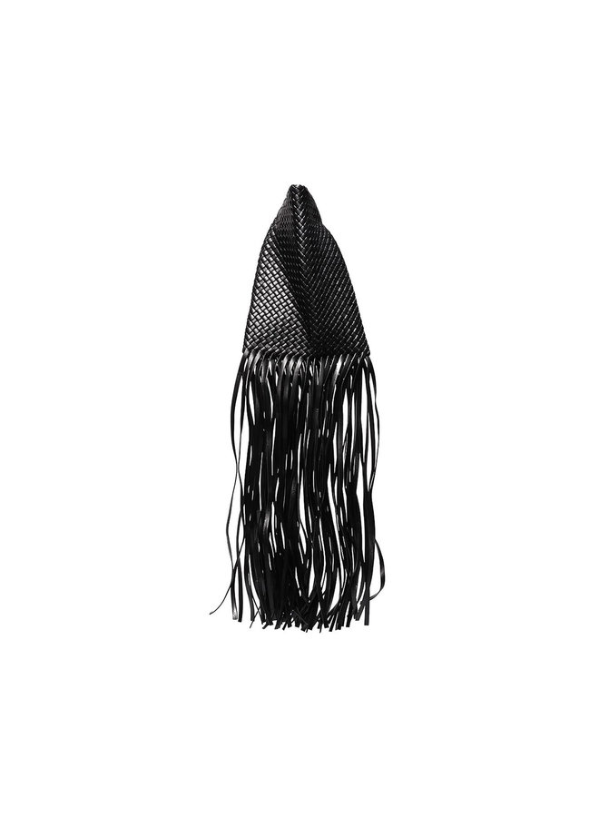 Crisscross Fringed Clutch Bag