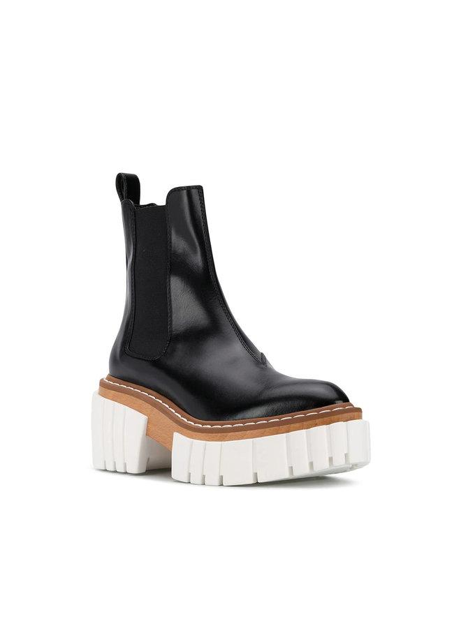 Emilie Platform Ankle Boot in Vintage Black