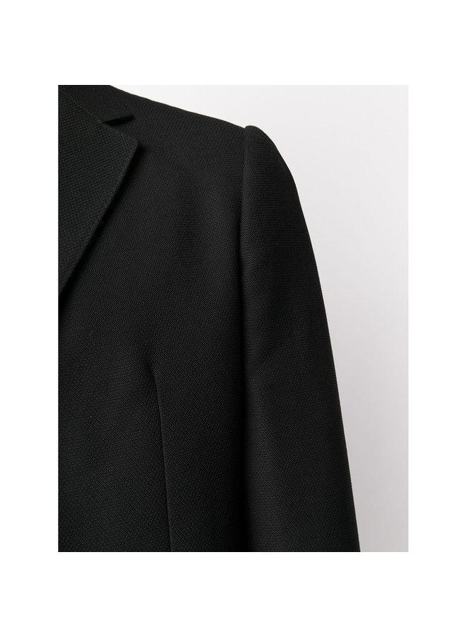Techmerino Blazer Jacket in Wool in Black