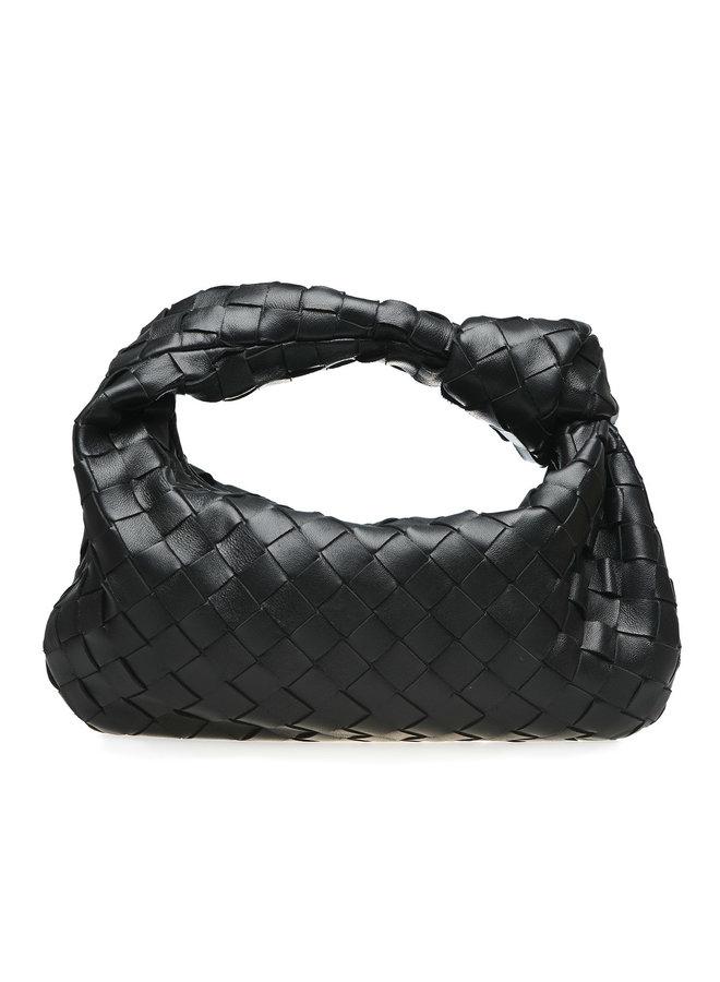 Mini Jodie Bag in Intrecciato Leather in Black