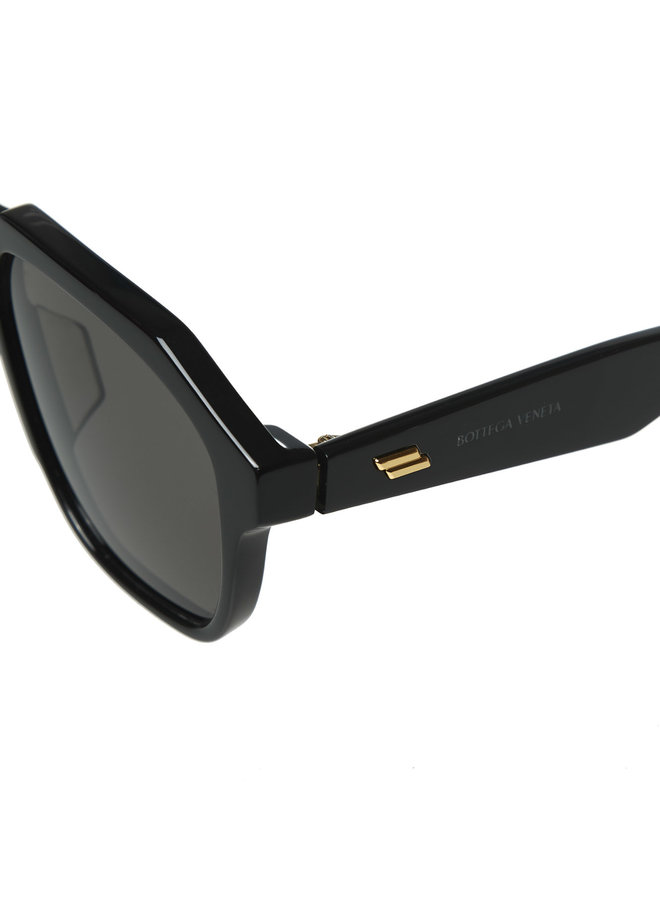 Square Frame Oversized Sunglasses in Black