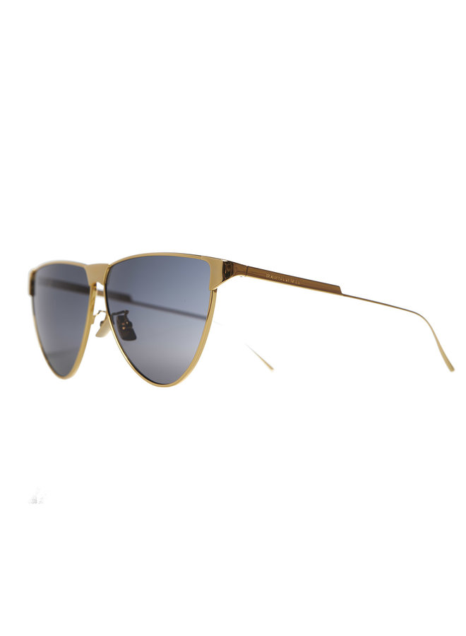 Round Frame Sunglasses in Gold