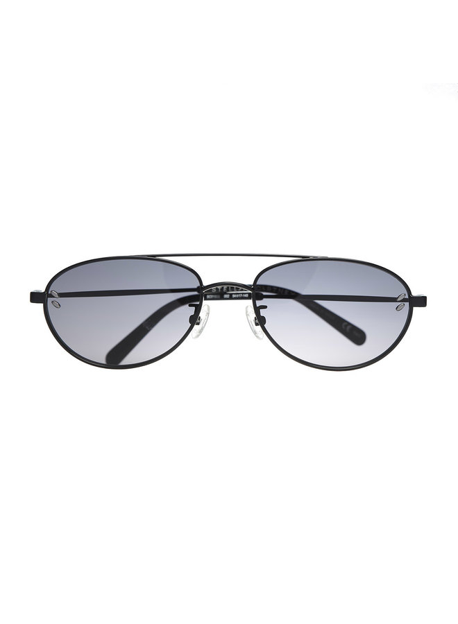 Round Frame Sunglasses in Light Grey