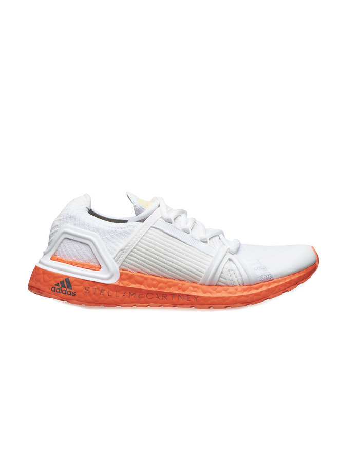 Low Top Running Sneakers in White/Orange