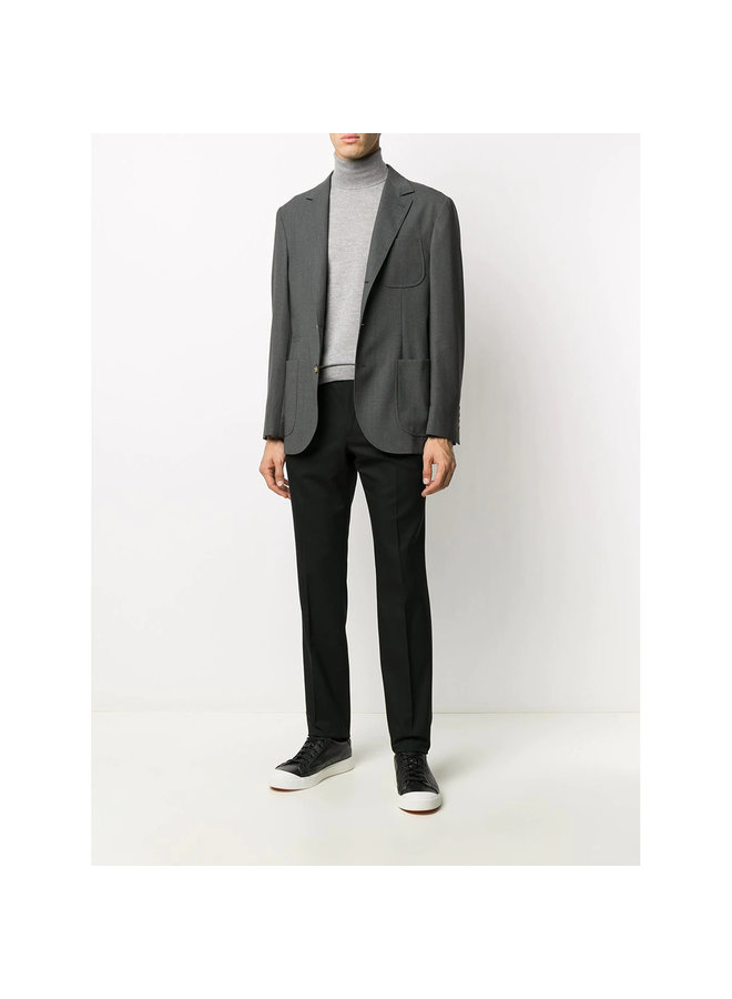 Slim Leg Formal Pants in Cotton in Black